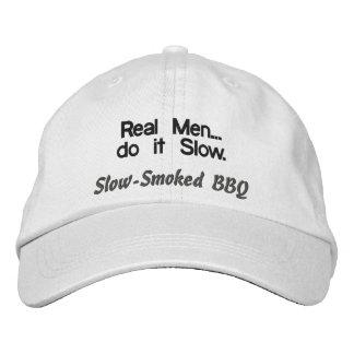 Wirkliche Männer tun es langsamer GRILLEN Hut Bestickte Baseballcaps