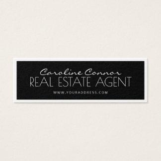 Wirklicher Anwesen-Agent-schwarze u. weiße Mini Visitenkarte