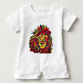 Wirklicher Rasta Löwe Baby Strampler