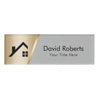 Wirkliches Anwesen-Agent-kundenspezifisches Namenschild