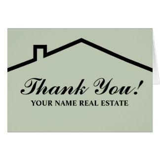 Wirkliches Anwesen danken Ihnen Mitteilungskarten Mitteilungskarte