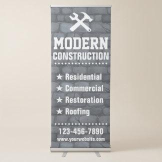 Wirkliches Bauunternehmen des Anwesen-| des Ausziehbarer Banner