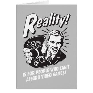 Wirklichkeit: Kann sich Videospiele nicht leisten Karte