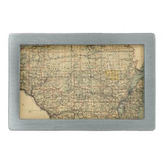 Wisconsin 1896 rechteckige gürtelschnalle