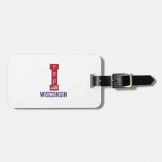 Wisconsin-Entwurf Gepäckanhänger