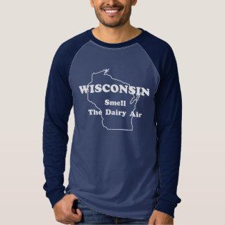 Wisconsin-Geruch der Molkereiluft-lange T-Shirt