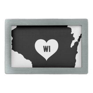 Wisconsin-Liebe Rechteckige Gürtelschnalle