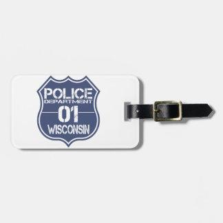 Wisconsin-Polizeidienststelle-Schild 01 Gepäck Anhänger