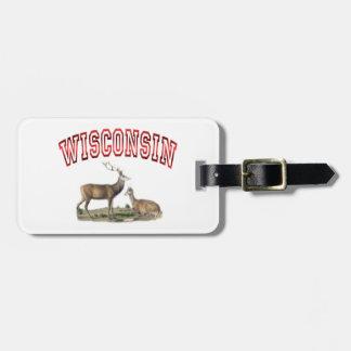 Wisconsin-Rotwildszene Gepäckanhänger