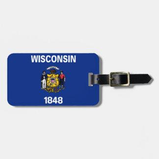 Wisconsin-Staats-Flagge Adress Schild