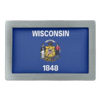 Wisconsin-Staats-Flagge Rechteckige Gürtelschnallen