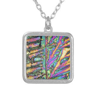 Wismutchlorverbindung unter dem Mikroskop Halskette Mit Quadratischem Anhänger