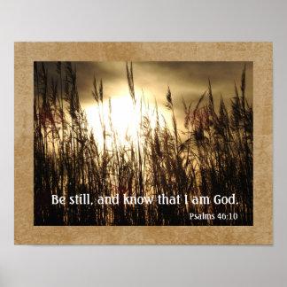 Wissen Sie, dass ich Gott bin -- Psalm-46:10 - Poster