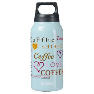 Wissen Sie, wie viel i-Liebe-Kaffee? Isolierte Flasche