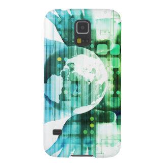 Wissenschafts-futuristische Technologie als Samsung S5 Cover