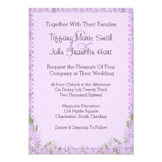 Wisteria-Blumen, die Einladung Wedding sind 12,7 X 17,8 Cm Einladungskarte