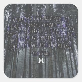 Witchy Zitat durch Segovia Amil Quadratischer Aufkleber