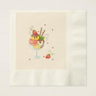 with hisst cream strawberry serviette