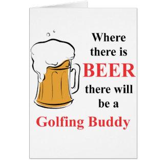 Wo es Bier - Golf spielender Freund gibt Karte
