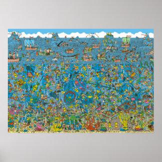 Wo Waldo Tiefsee-Taucher ist Poster