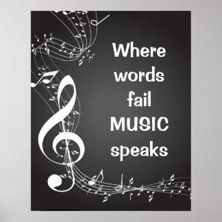 Wo Wörter versagen, spricht MUSIK Inspirational Poster