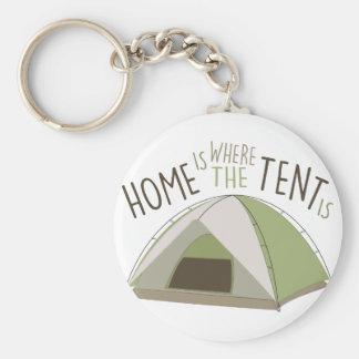 Wo Zelt ist Standard Runder Schlüsselanhänger