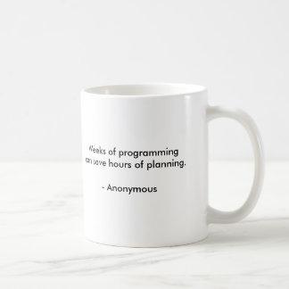 Wochen der Programmierung Kaffeetasse
