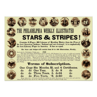 Wöchentliche 1918 Stern-u. Streifen-Zeitung Philad Poster