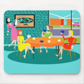 Wöchentliches Kartenspiel der Retro Frauen Mousepads