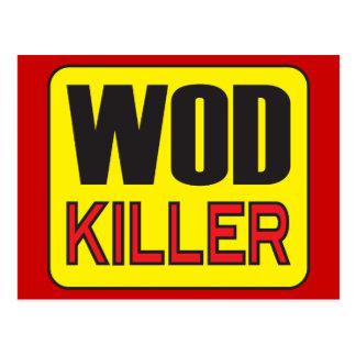 WOD Mörder - Trainings-und Gewichts-Anheben Postkarte