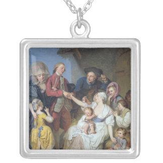 Wohltätigkeit, 1777 halskette mit quadratischem anhänger
