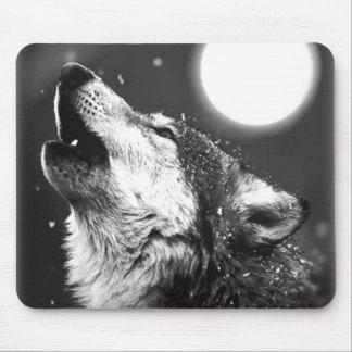Wolf, der am Mond heult Mauspad