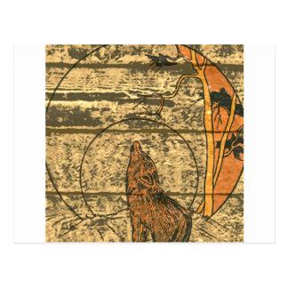 Wolf-Heulen Postkarte
