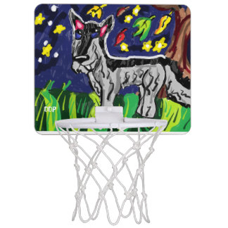 Wolf in Fall zwei Mini Basketball Netz