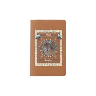 Wolf - Lehrer-Notizbuch-Moleskin-Abdeckung Moleskine Taschennotizbuch