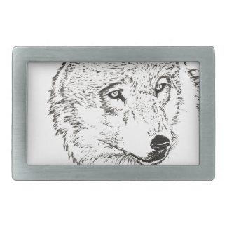 Wolf Rechteckige Gürtelschnallen