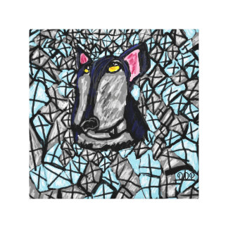 Wolf und Diamanten Leinwanddruck