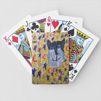 Wolf und Stern und Mond Bicycle Spielkarten