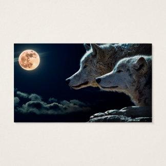 Wolf-Wölfe, die am Vollmond heulen Visitenkarte