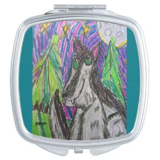 Wolfkunst 1 taschenspiegel