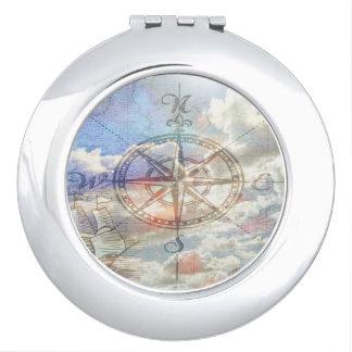 Wolken-Kompass Taschenspiegel