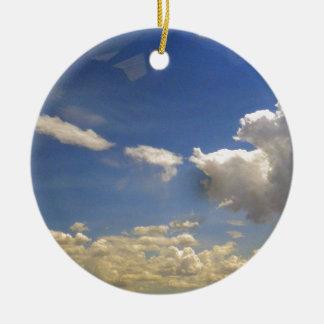 Wolken Rundes Keramik Ornament