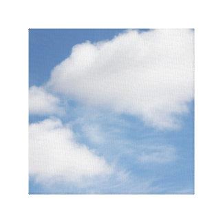 Wolken wickelten Leinwand ein Leinwanddruck