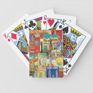 Wolkenkratzer von New York - Chartas des Pokers Bicycle Spielkarten