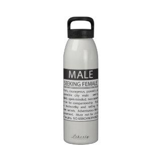 Wollen Sie/persönliche Anzeigen-lustige Wasser-Fla Wiederverwendbare Wasserflasche