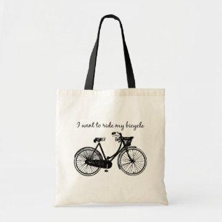 """""""Wollen Sie, um mein Fahrrad zu fahren"""" Tragetasche"""
