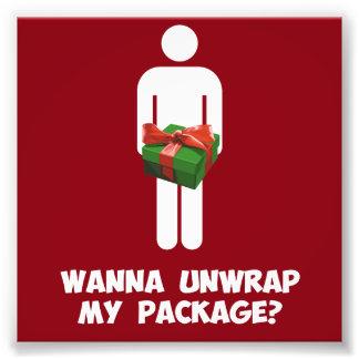 Wollen Sie, um mein Paket auszupacken? Photo Drucke