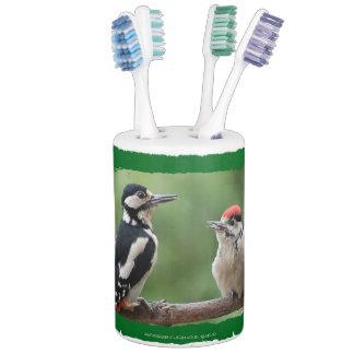 Woodpecker ~ Bunspecht ~ épeiche ~ by JL GLINEUR Zahnputzbecher