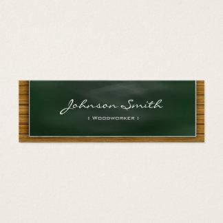 Woodworker - coole Tafel persönlich Mini Visitenkarte