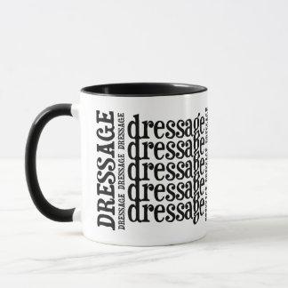 """WordArt """"der Dressage"""" der Horsey-Mädchen Tasse im"""